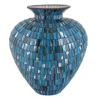 Essential Blue Mosaic Vase