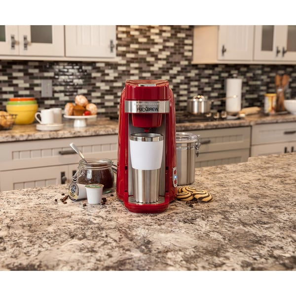 Hamilton Beach Red FlexBrew Single-Serve Plus Coffee Maker 14973771
