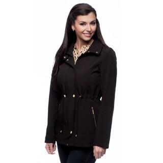 Ellen Tracy Women's Anorak Softshell Black Jacket
