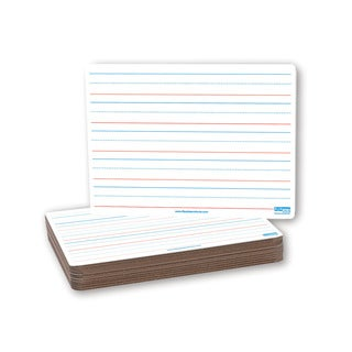 Flipside Red and Blue Ruling Magnetic Dry Erase Board (Pack of 12)