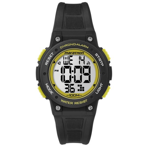 Timex Marathon Digital Mid-size Black/ Yellow Resin Watch