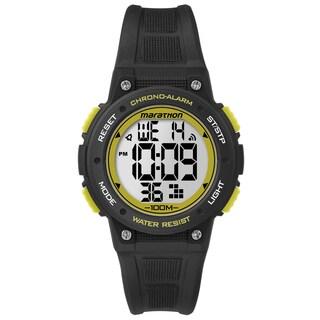 Timex TW5K84900M6 Marathon Digital Mid-size Black/ Yellow Resin Watch