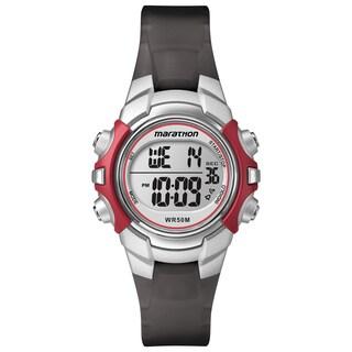 Timex T5K807M6 Unisex Marathon Digital Mid-Size Red/ Silver-Tone/ Black Watch