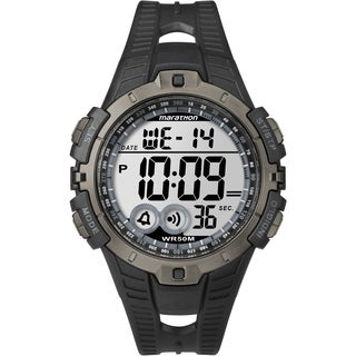 Timex T5K802M6 Men's Marathon Digital Full-size Black/ Grey Watch