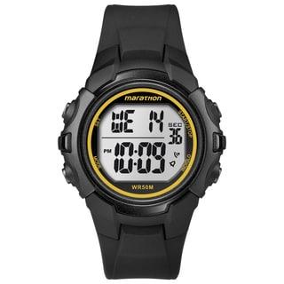 Timex T5K818M6 Men's Marathon Digital Full-size Black/ Yellow Watch