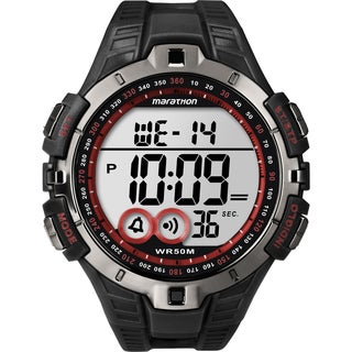 Marathon by Timex Men's Digital Full-size Black/ Gunmetal Gray/ Red Watch
