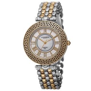 Akribos XXIV Women's Japanese Quartz Diamond Markers Unique Bracelet Watch