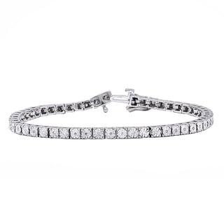 Beverly Hills Charm Sterling Silver 1/4ct TDW Diamond Tennis Bracelet (H-I, I2-I3)