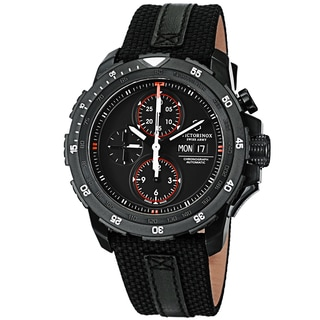 Swiss Army Men's V241530 'Alpnach' Black Dial Black Strap Chronograph Watch