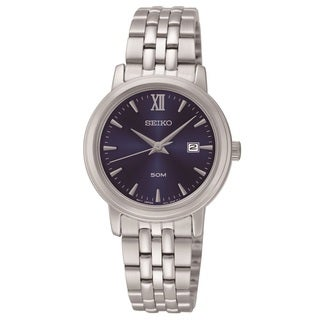 Seiko Women's SUR819 Stainless Steel Blue Dial Watch