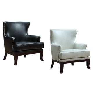 Wakefield Faux Leather Wingback Chair