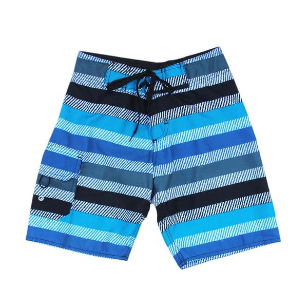 Azul Swimwear Boys' 'Wavey Stripes' Boardshort