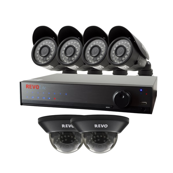 Revo Lite 8-channel 1TB 960H DVR Surveillance System with 4 Bullet and 2 Dome 700TVL Cameras