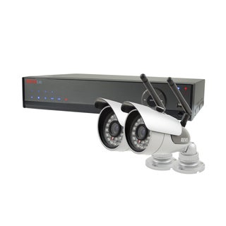 Revo Lite 4-channel 500GB 960H DVR Surveillance System with 2 600TVL Wireless Bullet Cameras