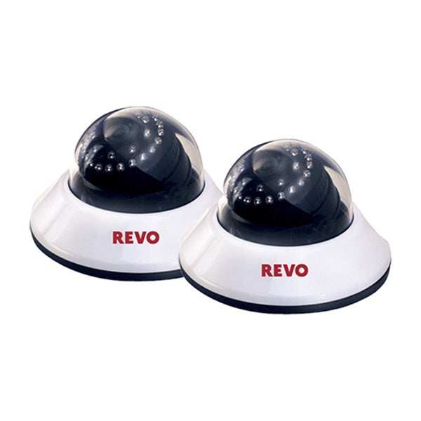 Revo 660 TVL Indoor Dome Surveillance Camera with 80-foot Night Vision (Pack of 2)