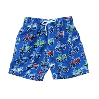 Azul Swimwear Boys' Navy 'Mopeds' Swim Shorts