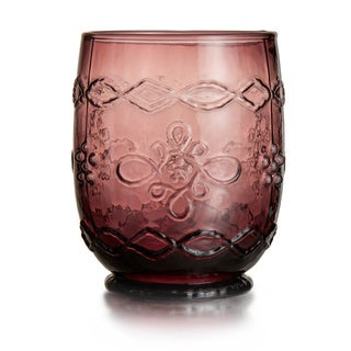 Harper Purple Old Fashion Glass (Set of 4)