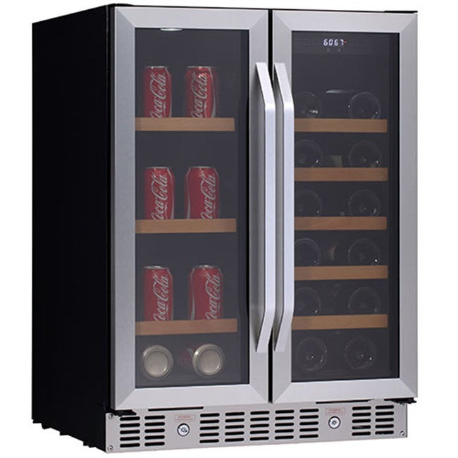 Edgestar CWB1760FD 24-inch Built-In Wine and Beverage Cooler with French Doors at Sears.com