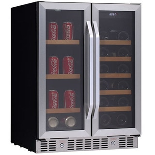 Edgestar CWB1760FD 24-inch Built-In Wine and Beverage Cooler with French Doors