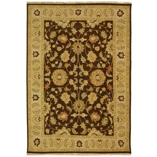 Safavieh Hand-Woven Sumak Brown/ Beige Wool Rug (9' x 12')