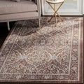 Safavieh Valencia Grey/ Brown Polyester Rug (9' x 12')