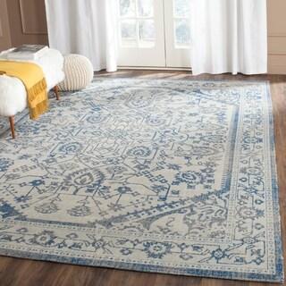 Safavieh Patina Light Grey/ Blue Cotton Rug (6'7 x 9')