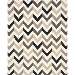 Safavieh Hand-Tufted Cambridge Ivory/ Black Wool Rug (10' x 14')