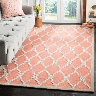 Safavieh Hand-Tufted Cambridge Coral/ Ivory Wool Rug (10' x 14')