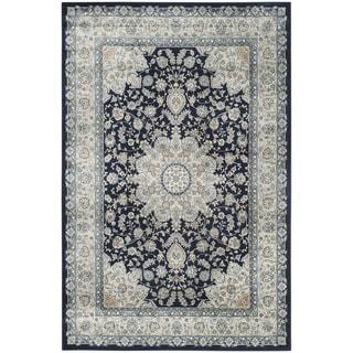 Safavieh Persian Garden Navy/ Light Blue Viscose Rug (5'1 x 7'7)