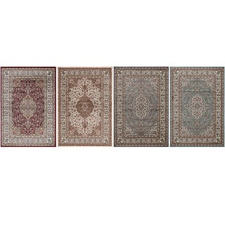 Machine-made Regal Collection Traditional Medallion Design Polypropylene Area Rug (5'3 x 7'7)