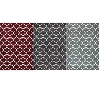 Machine-made Regal Collection Contemporary Moroccan Trellis Design Polypropylene Area Rug (5'3x7'7)