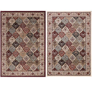 Machine-made Regal Collection Traditional Persian All-Over Pattern Design Polypropylene Area Rug (5'3x7'7)