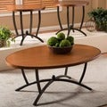Manchot Wood and Metal 3-Piece Contemporary Table Set