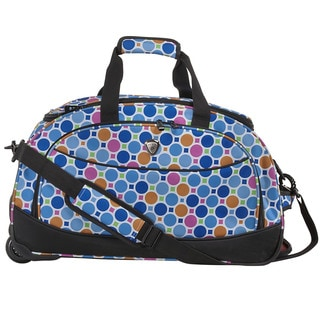 CalPak 'Plato' Polyester Blue Tiles 21-inch Carry On Rolling Upright Duffel Bag