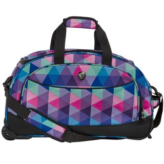 CalPak Plato Lavender Triangle 21-inch Carry-on Rolling Upright Duffel Bag