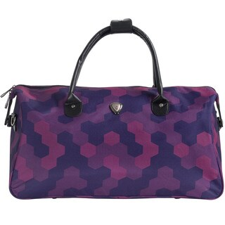 "CalPak ""Hampton"" Purple Hexagon 20-inch Duffel Bag"