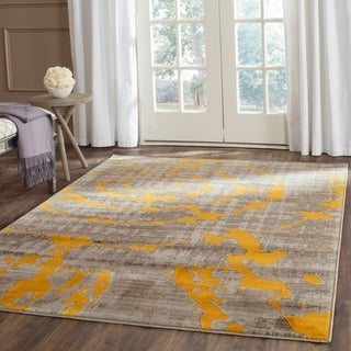 Safavieh Porcello Light Grey/ Yellow Rug (5'2 x 7'6)