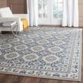 Safavieh Patina Blue/ Ivory Cotton Rug (8' x 10')