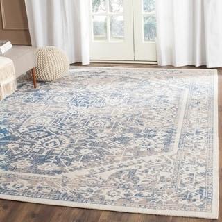 Safavieh Patina Grey/ Blue Cotton Rug (5'1 x 7'6)
