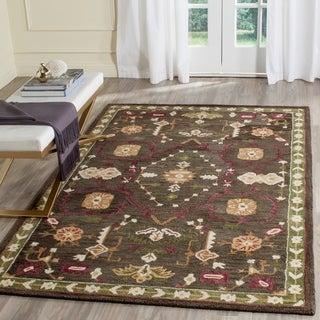 Safavieh Handmade Roslyn Sage/ Ivory Wool Rug (8' x 10')