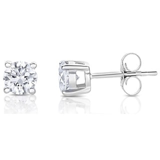 14k White Gold 1/2ct TDW Diamond Stud Earrings (H-I, SI2)