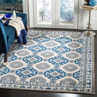 Safavieh Patina Blue/ Ivory Cotton Rug (4' x 6')
