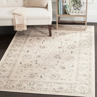 Safavieh Vintage Light Grey/ Ivory Rug (6'7 x 9'2)