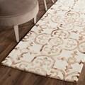 Safavieh Handmade Dip Dye Ivory/ Camel Wool Rug (2'3 x 6')