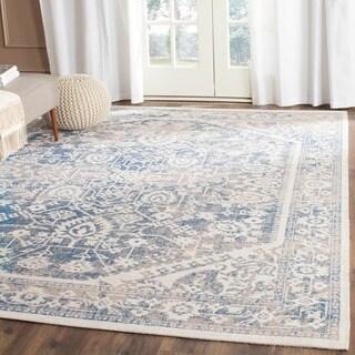 Safavieh Patina Grey/ Blue Cotton Rug (10' x 14')