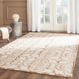 Safavieh Hand-Tufted Dip Dye Ivory/ Camel Wool Rug (9' x 12')