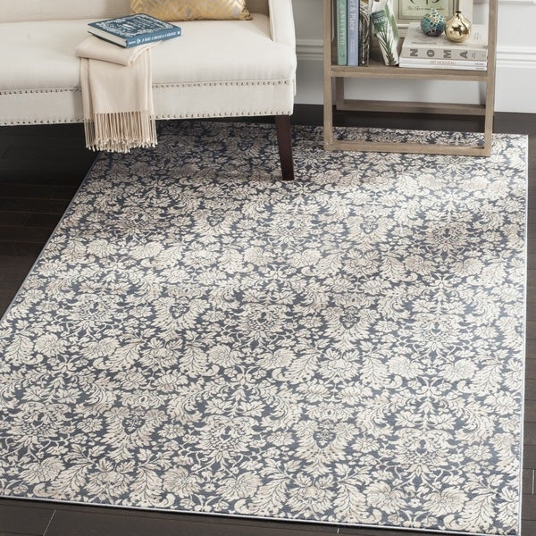 Safavieh Vintage Navy/ Cream Rug (8' x 11')