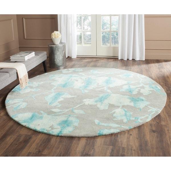 Safavieh Dip Dye Gray Turquoise Area Rug Reviews: Safavieh Handmade Dip Dye Grey/ Turquoise Wool Rug (7