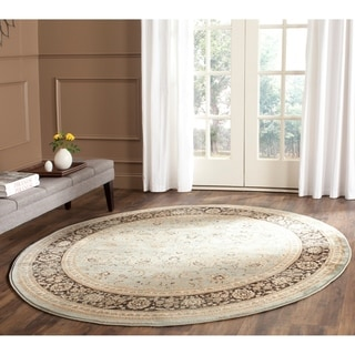 Safavieh Vintage Light Blue/ Black Rug (6'7 Round)
