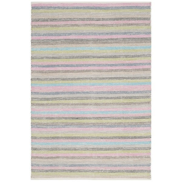 Safavieh Hand-Woven Striped Kilim Light Grey/ Multi Wool Rug (8' x 10')